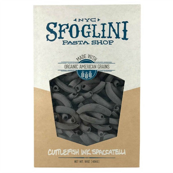 Organic Cuttlefish Ink Spaccatelli Pasta (2-Pack) - Sfoglini - New York Makers