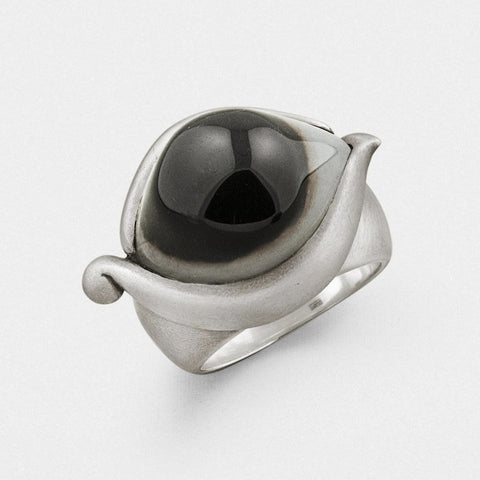 Indian Agate Eye Ring