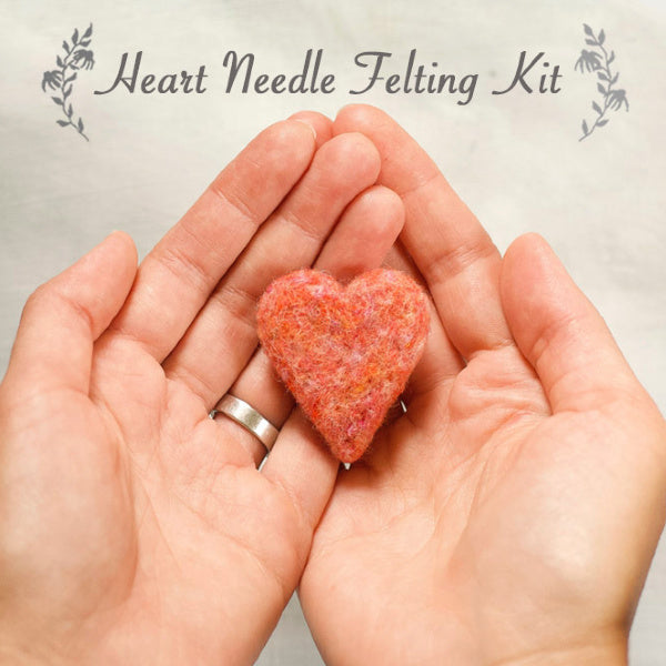 Heart Needle Felting Kit - Grey Fox Felting - New York Makers