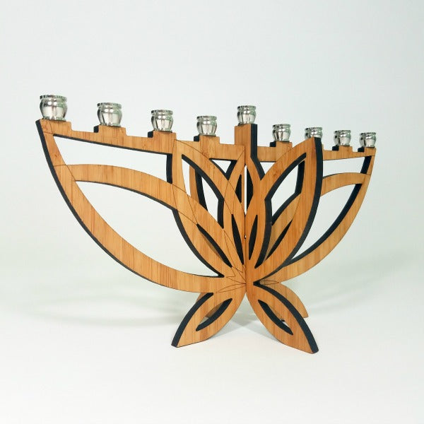 Mini Lotus Flower Menorah