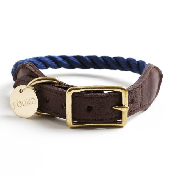 Rope Collar for Dog and Cat in Navy
