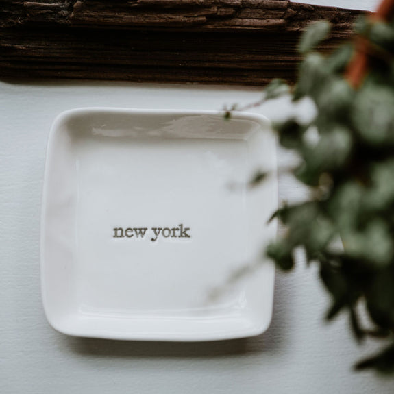 """New York"" Porcelain Tray"