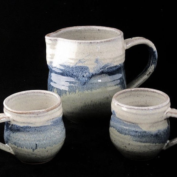 Stoneware Pitcher Set in Multiple Colors