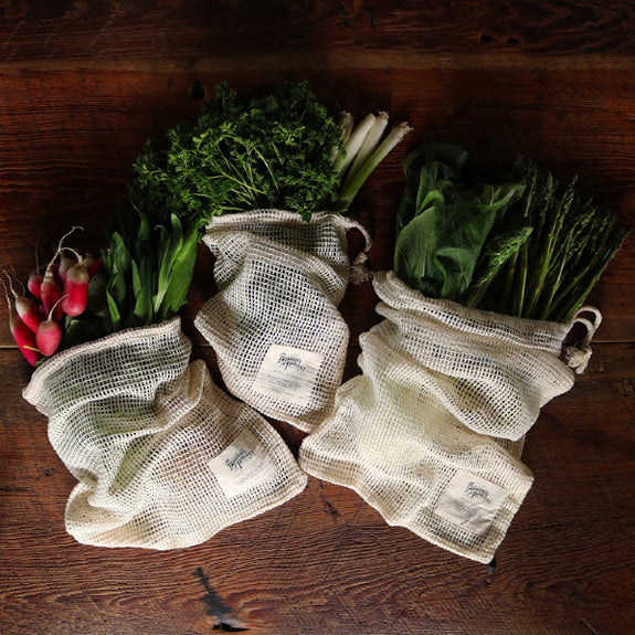 Set of 6 Reusable Produce Bags - The Farmhouse Project - New York Makers