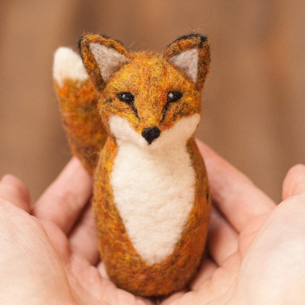Red Fox Needle Felting Kit - Grey Fox Felting - New York Makers