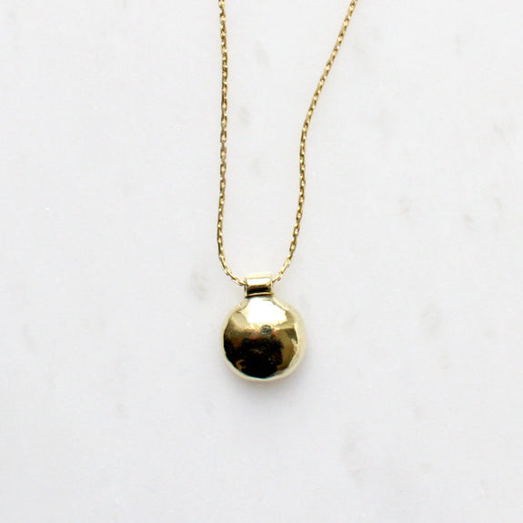 Small Brass Bump Necklace - Dovecote - New York Makers