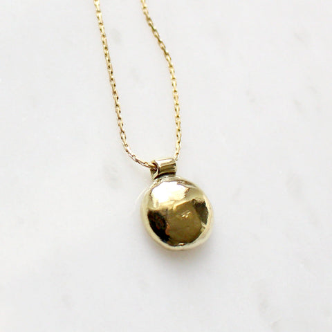 Small Brass Bump Necklace
