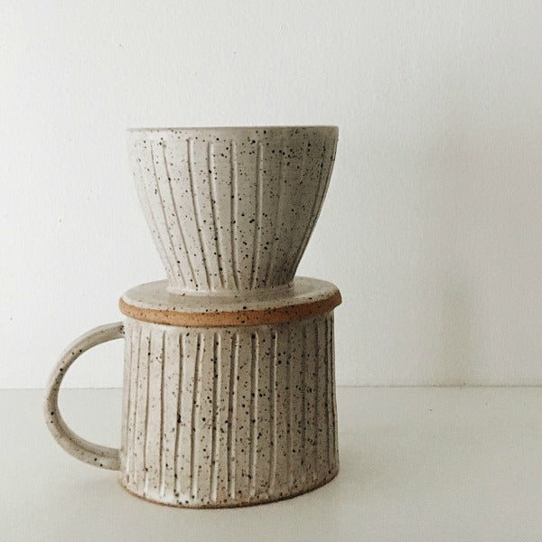 Speckled Mug and Pour Over