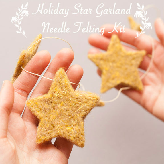 Holiday Star Garland Felting Kit - Grey Fox Felting - New York Makers