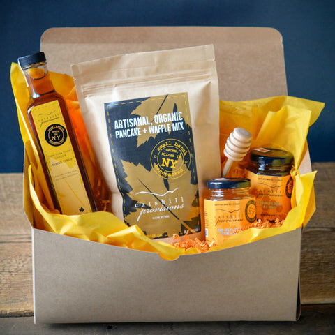 """Sunrise Set"" Raw Honey, Maple Syrup and Pancake Mix Gift Set"