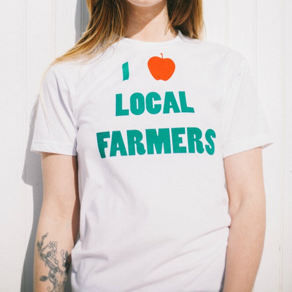 """I Love Local Farmers"" Unisex Tee - Natalie Washuta - New York Makers"