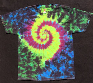 Spiral (Black/Purple/Blue/Green) Shirt (Tie Dye), Sale - Flight Inspired
