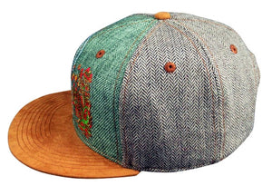 Ethereal Hat (Herringbone / Hemp / Suede) (Fitted), Hats - Flight Inspired
