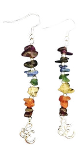 Chakra Earrings *ROYGBIV, Gemstones - Flight Inspired