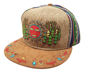 Spirit Guide Hat (Strapback) (Dark Tan Hemp / Fabric / Suede), Hats - Flight Inspired