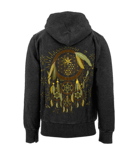 Sacred Geometry Dreamcatcher (Earthtones) (Pullovers & Zip Ups) - S, 3XL, Sale - Flight Inspired