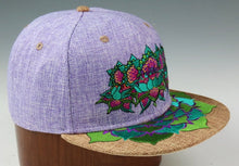 Flower Of Life Lotus (Hemp) (Purple & Tan), Hats - Flight Inspired
