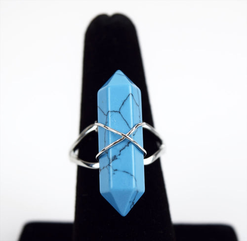 Turquoise Wire Ring, Gemstones - Flight Inspired