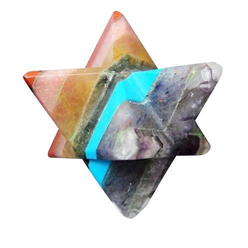 Seven Chakra Gemstone Merkaba Star *ROYGBIV, Gemstones - Flight Inspired