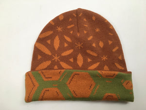 Flower Of Life Beanie (Earthtones) (Sample 1 of 1)