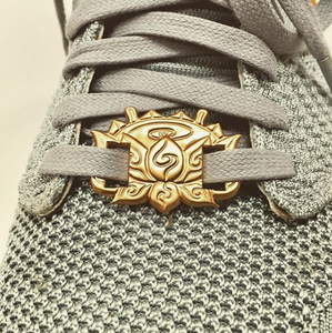 Lotus Shoe Lace Buckles (Pair) (Gold, Silver or Copper Plated)