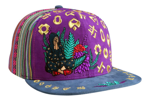 Universal Language Hat (Purple / Strapback) (Suede / Fabric)