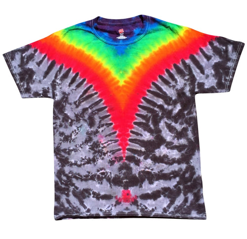 V ROYGBIV (with Break) Shirt (Tie Dye) - S, Shirts - Flight Inspired