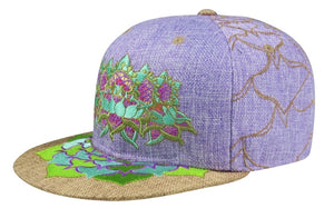Flower Of Life Lotus (Hemp) (Purple & Tan) (Wildstyle Edition), Hats - Flight Inspired
