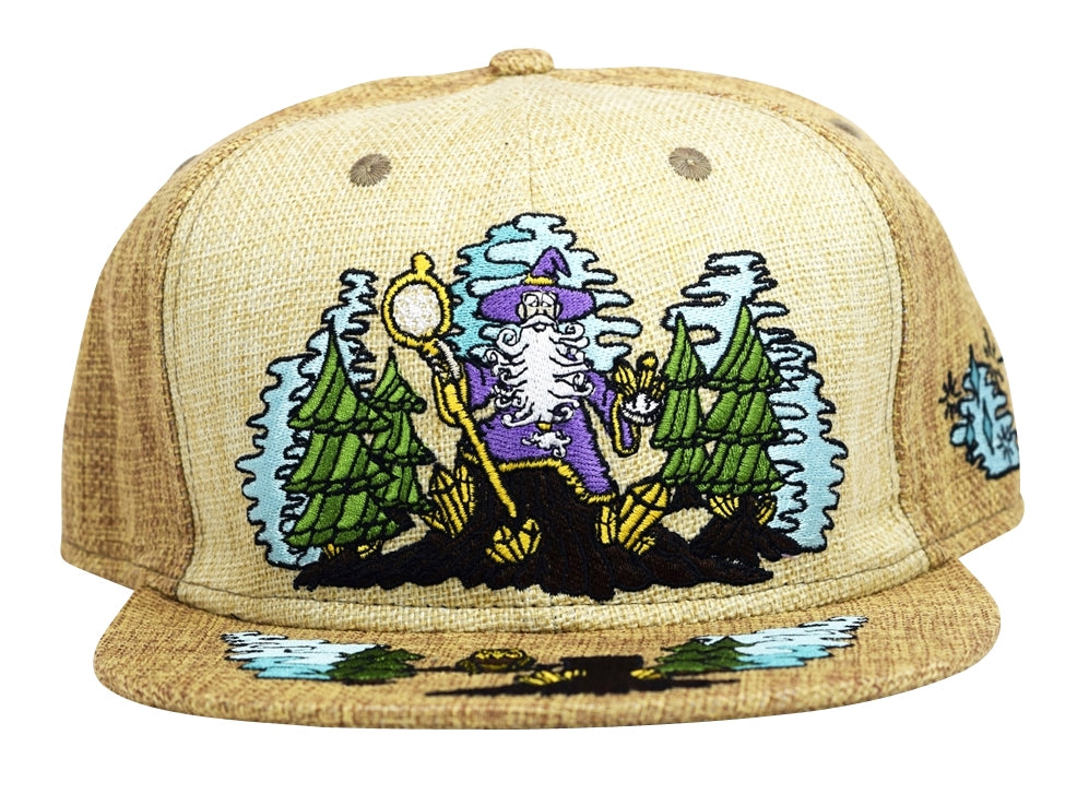 Enchanted Crystal Wizard (Hemp) (Light Brown & Brown), Hats - Flight Inspired