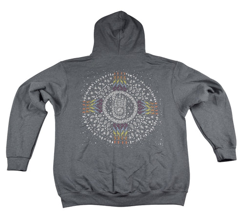 Ethos Zip-Up Hoodie (Charcoal Heather / Multi-Color) (6-Color Screen Print) - L, XL, 2XL, Hoodies - Flight Inspired