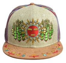 Spirit Guide Hat (Strapback) (Tan Hemp / Fabric / Suede), Hats - Flight Inspired