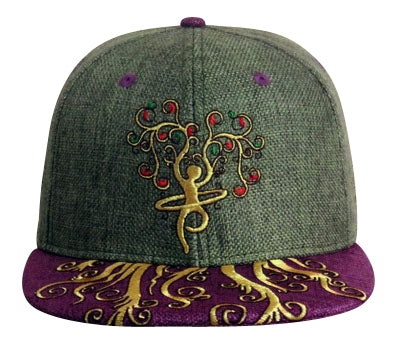 Roots Run Deep (Hemp) (Forest Green & Deep Purple), Hats - Flight Inspired