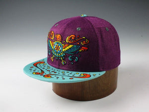 Sacred Geometry Thunderbird (Hemp) (Purple & Light Blue), Hats - Flight Inspired