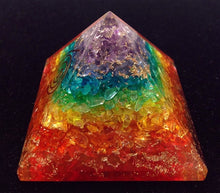 "3"" Chakra Stone Pyramid Orgonite, Gemstones - Flight Inspired"