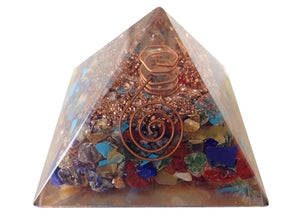 "3"" Wrapped Quartz Pyramid Orgonite, Gemstones - Flight Inspired"