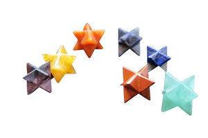 Merkaba Star Gemstone Chakra Set *ROYGBIV, Gemstones - Flight Inspired