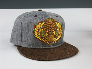 Sacred Geometry Scarab (Hemp) (Earthtones), Hats - Flight Inspired