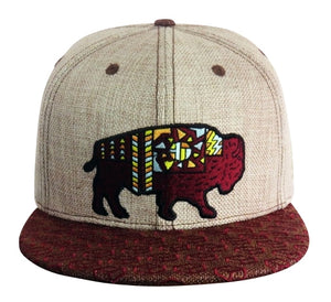 Sacred Bison (Hemp) (Tan & Brown), Hats - Flight Inspired