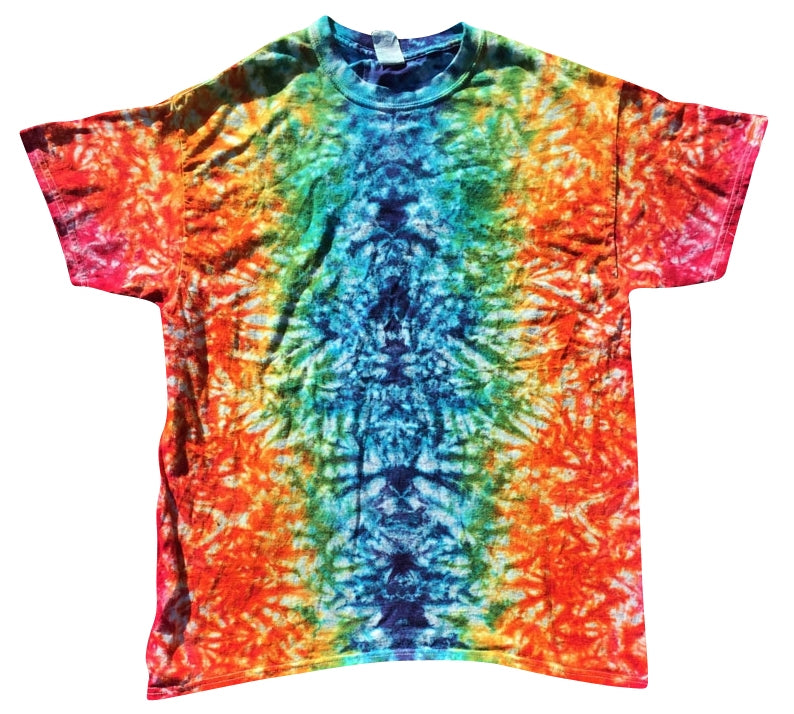 Horizontal Shattered (ROYGBIV) Shirt (Tie Dye) - S, Shirts - Flight Inspired