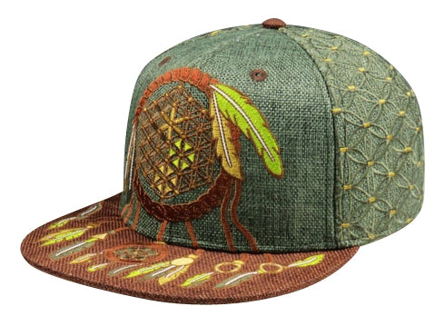 Sacred Geometry Dreamcatcher (Hemp) (Earthtones) (Wildstyle Edition), Hats - Flight Inspired