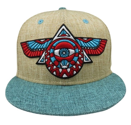 Flying Third Eye Hat (Hemp Teal), Hats - Flight Inspired