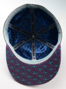Third Eye Leaf Man (Hemp) (Purple / Teal) (WILDSTYLE Edition), Hats - Flight Inspired