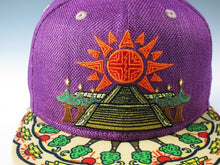 Geometric Temple In Bloom Hat (Hemp) (Purple & Tan), Hats - Flight Inspired