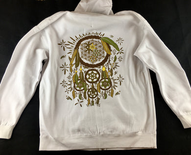Dreamcatcher Hoodie (Pullover, Dye At Home, White, Vintage 2013