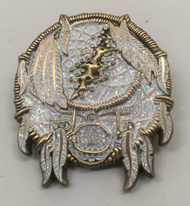 GD Dreamcatcher Pin (Gold, White, Vintage 2014)