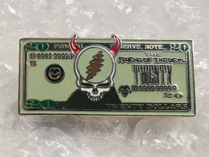 Friend of the Devil Pin (Silver, Extremely Rare, Vintage 2013)