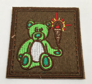 Flight Bear Patch (Green, Rare, Vintage 2015)