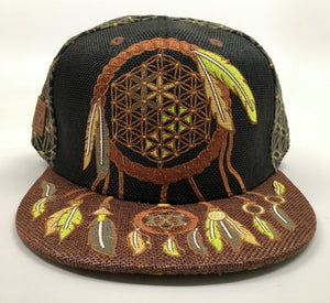 Sacred Dreamcatcher Wildstyle Hat (Size 7 3/8, Missing Cap Button)