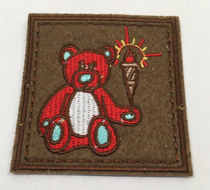 Flight Bear Patch (Red, Rare, Vintage 2015)
