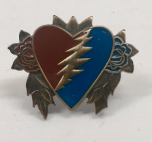Steal Your Heart Pin (Red & Blue, Vintage 2012)